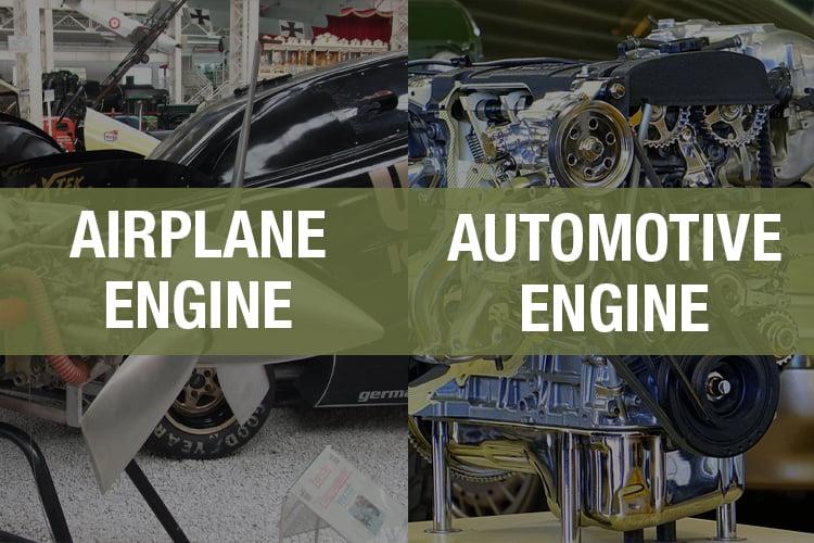 car engine vs airplane engine comparison